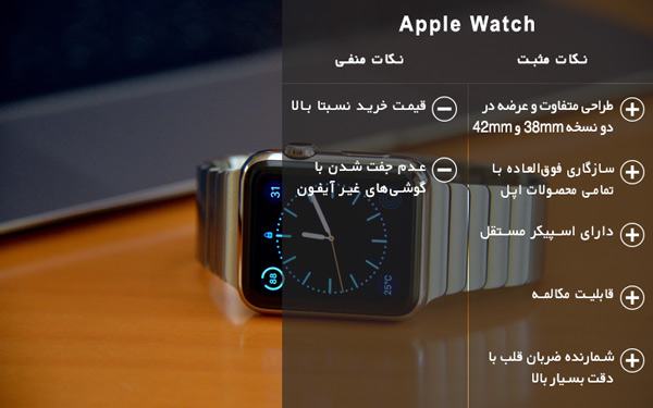 نکات مثبت و منفی ساعت هوشمند اپل واچ