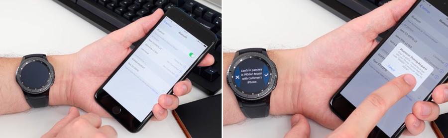 جفتسازی ساعت سامسونگ گیر S3 با گوشی اپل آیفون
