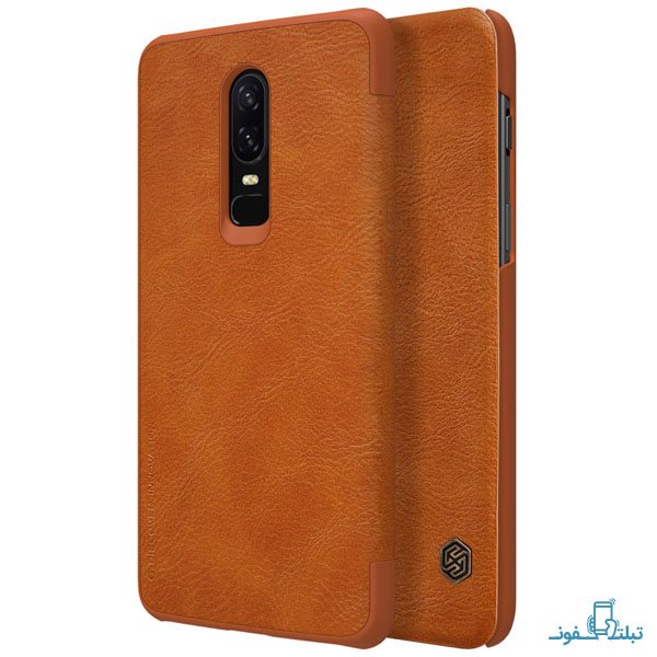 Nillkin Qin Leather case for Oneplus 6-2-Buy-Price-Online