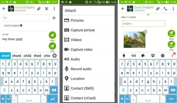نقد و بررسی گوشی ایسوس زنفون سلفی ZD551KL - پیام رسانی asus zenfone zd551kl Asus Zenfone ZD551KL Phone Asus Zenfone Selfie ZD551KL Review Benchmarks Messaging