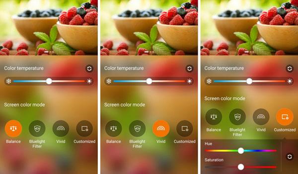 نقد و بررسی گوشی ایسوس زنفون سلفی ZD551KL - تنظیمات پیشرفته صفحه نمایش asus zenfone zd551kl Asus Zenfone ZD551KL Phone Asus Zenfone Selfie ZD551KL Review Display Advanced settings