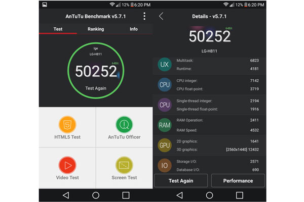 نتایج بنچمارک انتوتو گوشی موبایل ال جی جی 4