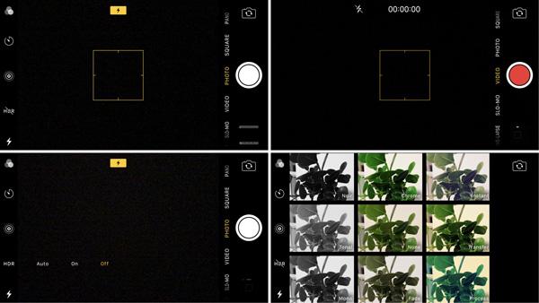 نقد و بررسی گوشی اپل آیفون 7 - رابط کاربری دوربین