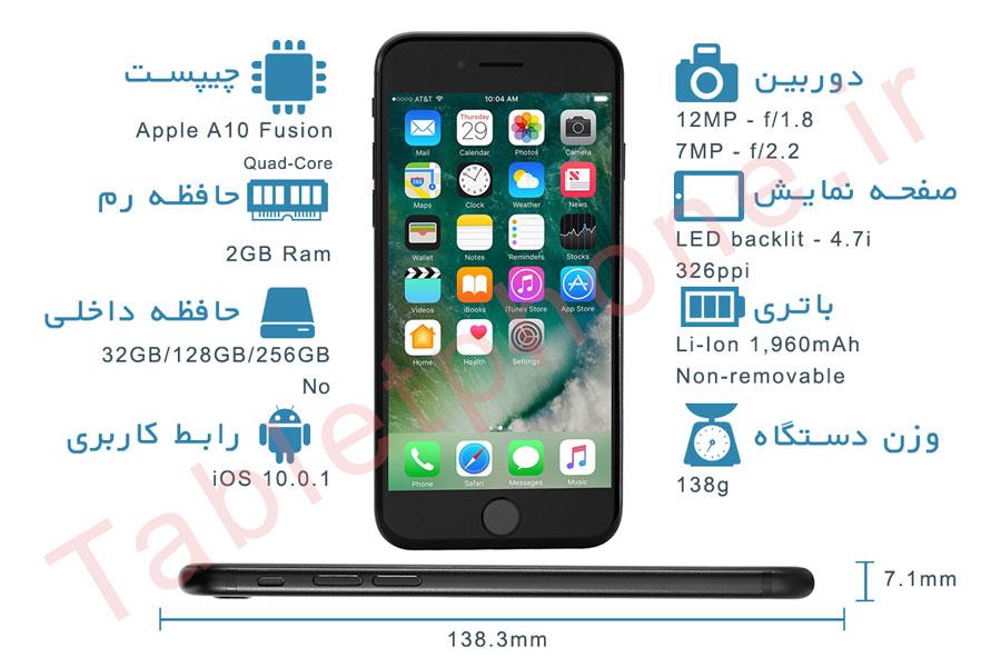 نقد و بررسی گوشی اپل آیفون 7 - اینفوگرافی