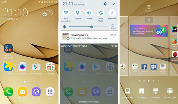 نقد و بررسی گوشی موبایل سامسونگ گلکسی S7 Edge - رابط کاربری