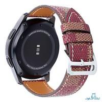 قیمت خرید بند چرمی طرح دار رنگی ساعت هوشمند سامسونگ Gear S3