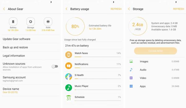 نقد و بررسی ساعت هوشمند سامسونگ Gear S3 - Gear Manager