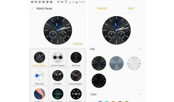 نقد و بررسی ساعت هوشمند سامسونگ Gear S3 - واچ فیسها