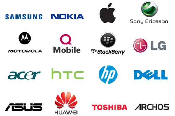 برندهای کمپانی های تولید کننده موبایل
