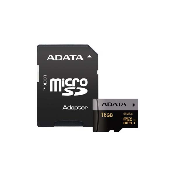 ADATA Premier Pro UHS-I U3 Class 10 95MBps microSDHC With Adapter – 16GB-Buy-Price-Online
