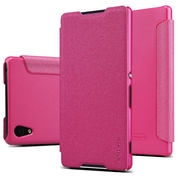 Accessory-Nillkin-Sparkle-Flip-Cover-Sony-Xperia-Z3-Plus-Buy-Price