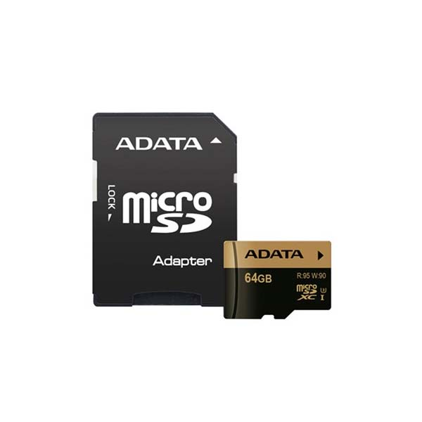 Adata XPG UHS-I U3 Class 10 95MBps microSDXC With SD Adapter – 64GB-Buy-Price-Online