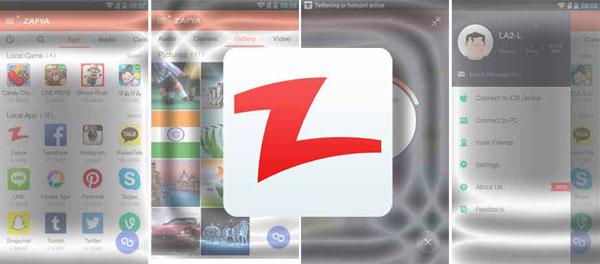 اپلیکیشن زاپیا برای اندروید