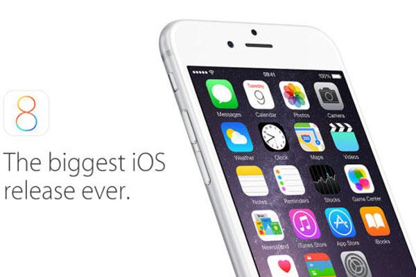 سیستم عامل iPhone OS 8