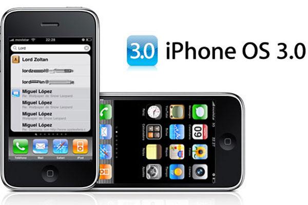 گوشی اپل آیفون 3 با سیستم عامل iPhone OS 3