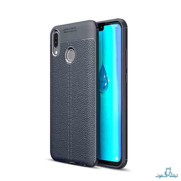 گارد ژله ای طرح چرم اتوفوکوس گوشی هوآوی وای 9 مدل 2019