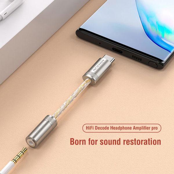 خرید کابل تبدیل USB-C به جک 3.5mm نیلکین Amplifier Pro