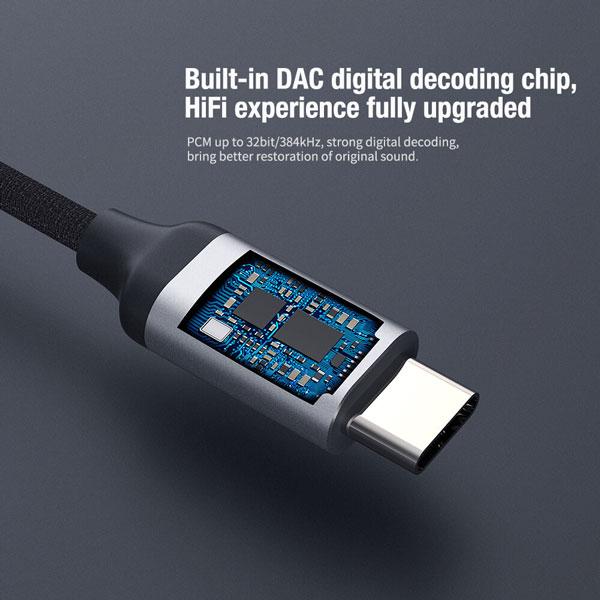 خرید کابل تبدیل USB-C به جک هدفون نیلکین مدل Amplifier