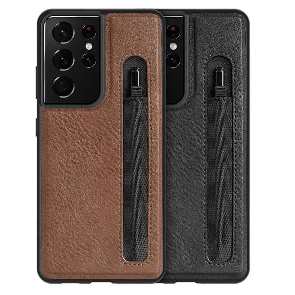 کاور چرمی سامسونگ Galaxy S21 Ultra مدل نیلکین Aoge Leather