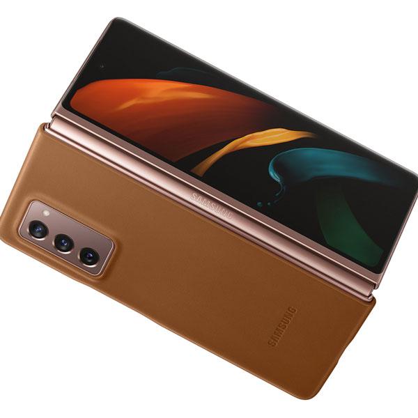 خرید کاور اورجینال سامسونگ Galaxy Z Fold2 5G مدل چرمی EF-VF916