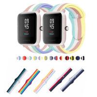 خرید بند سیلیکونی ساعت امیزفیت Amazfit Bip S طرح رنگین کمان