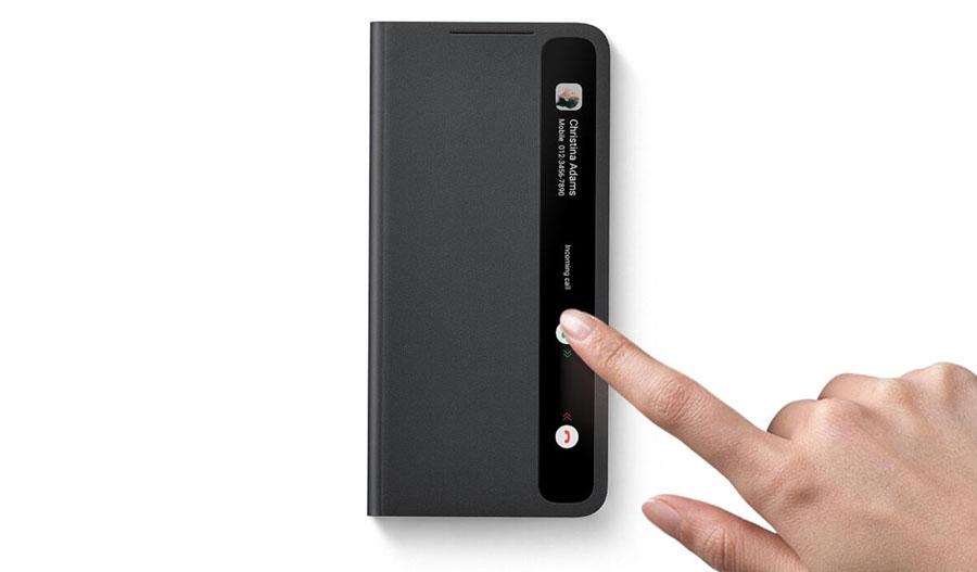 خرید کیف هوشمند گوشی سامسونگ S21 Plus مدل Clear View