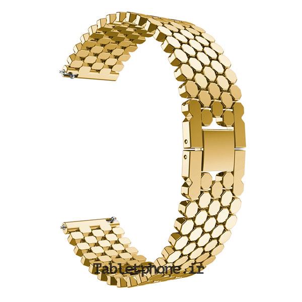 خرید بند ساعت هوشمند مدل استیل کندویی