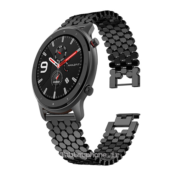 خرید بند ساعت هوشمند شیائومی Amazfit GTR 47mm مدل استیل کندویی