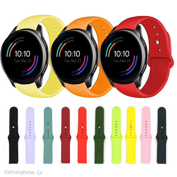 خرید بند سیلیکونی ساعت وان پلاس OnePlus Watch مدل دکمهای