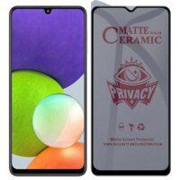 خرید محافظ صفحه سرامیکی گوشی سامسونگ گلکسی A22 4G مدل Privacy