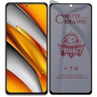 خرید محافظ صفحه سرامیکی گوشی شیائومی Poco F3 مدل Privacy