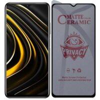 خرید محافظ صفحه سرامیکی گوشی شیائومی Poco M3 مدل Privacy