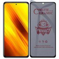 خرید محافظ صفحه سرامیکی گوشی شیائومی Poco X3 مدل Privacy