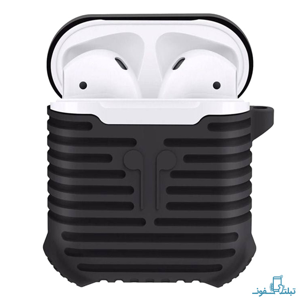 Coteetci Silicone Protective Cover With a Retaining Strap For Apple AirPods Case-1-Buy-Price-Online