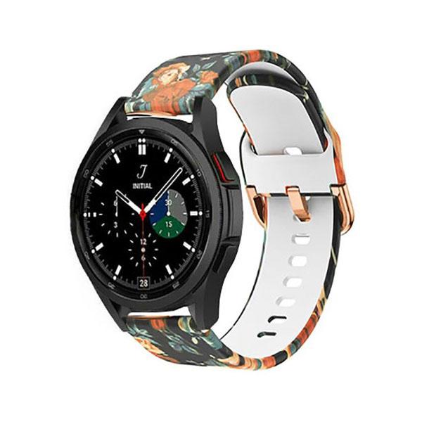 خرید بند سیلیکونی ساعت سامسونگ گلکسی Watch 4 Classic طرح Fashion