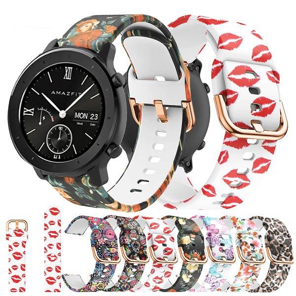 خرید بند سیلیکونی طرح دار ساعت هوشمند شیائومی امیزفیت GTR 42mm