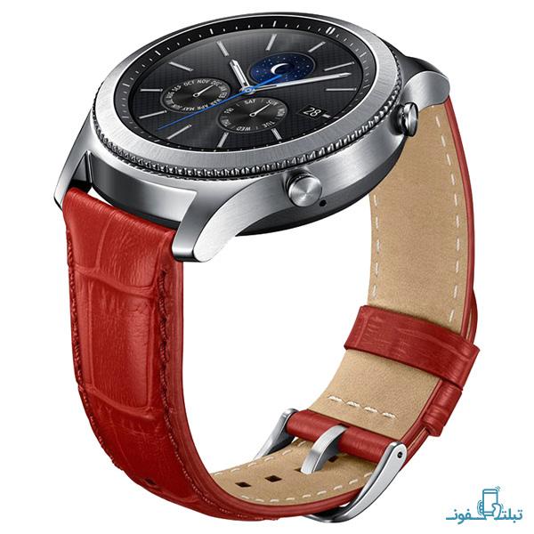 قیمت خرید بند چرمی طرح Alligator Grain Leather ساعت Gear S3