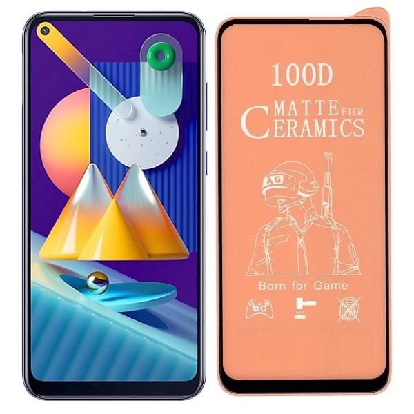 خرید محافظ تمام صفحه سرامیکی مات گوشی سامسونگ Samsung Galaxy M11