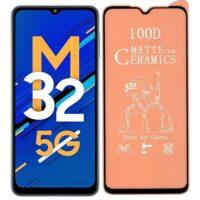 خرید محافظ تمام صفحه سرامیکی مات گوشی سامسونگ Galaxy M32 5G