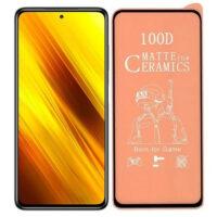 خرید محافظ تمام صفحه سرامیکی مات گوشی شیائومی Xiaomi Poco X3 NFC
