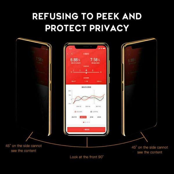 خرید گلس پرایوسی تمام صفحه گوشی اپل آیفون 12/آیفون 12 پرو