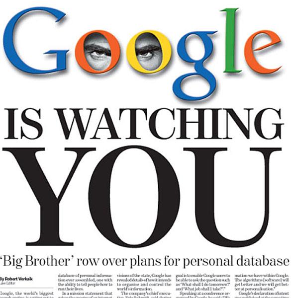 گوگل شما را نگاه میکند