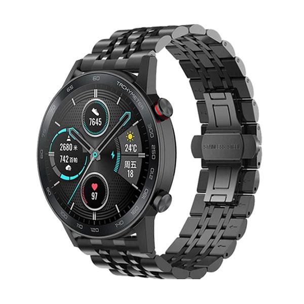 خرید بند استیل رولکسی ساعت هوشمند آنر مجیک واچ 2 مدل 46 میلی