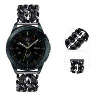بند ساعت سامسونگ Galaxy Watch 42mm استیل چرمی