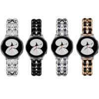 خرید بند ساعت هوشمند سامسونگ Galaxy Watch 4 استیل چرمی