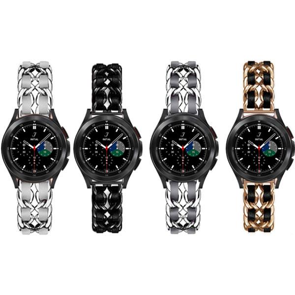 بند ساعت سامسونگ Galaxy Watch 4 Classic استیل چرمی
