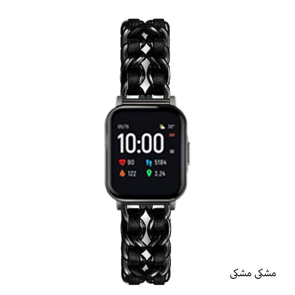 بند ساعت شیائومی Xiaomi Haylou LS02 استیل چرمی