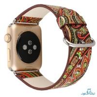 قیمت خرید بند چرمی طرح دار ساعت هوشمند اپل واچ 38mm