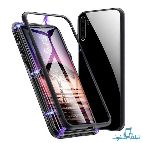 Magnetic Case with Tempered Glass Back for Samsung Galaxy Note 10-shop-buy