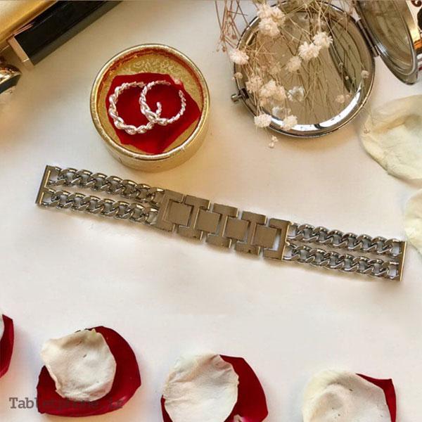 بند ساعت هوشمند مدل استیل زنجیری Cartier
